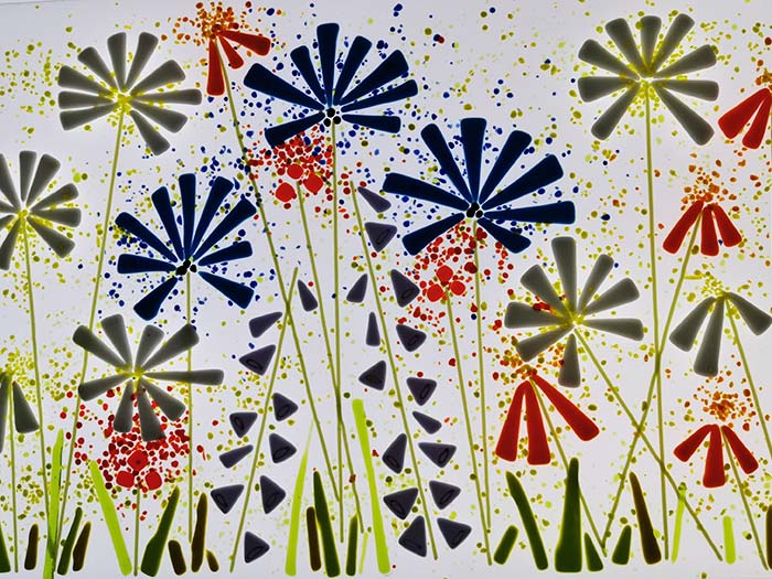 Fused Glass Panel - Cornflower