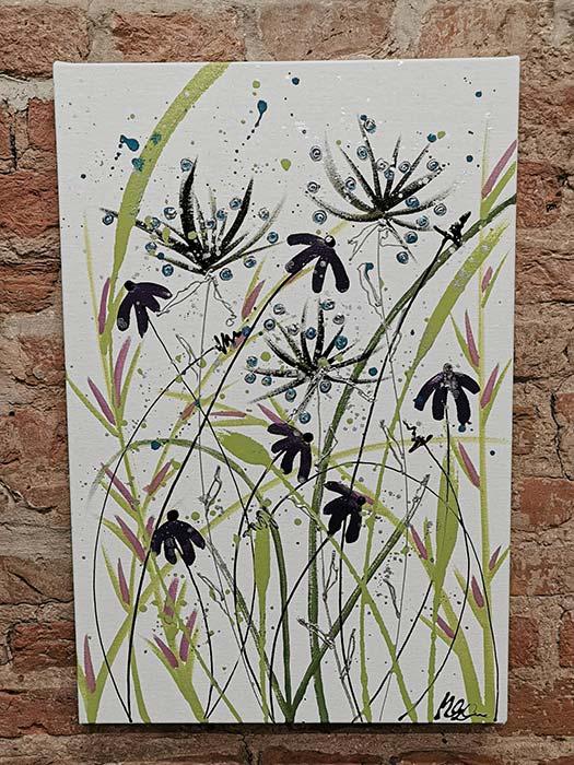 Painting - Dance Daisy Purple